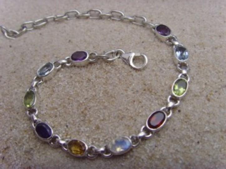 Armband - multicolor - 925'er Silber