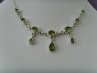 Peridot - Collier / Silber 925