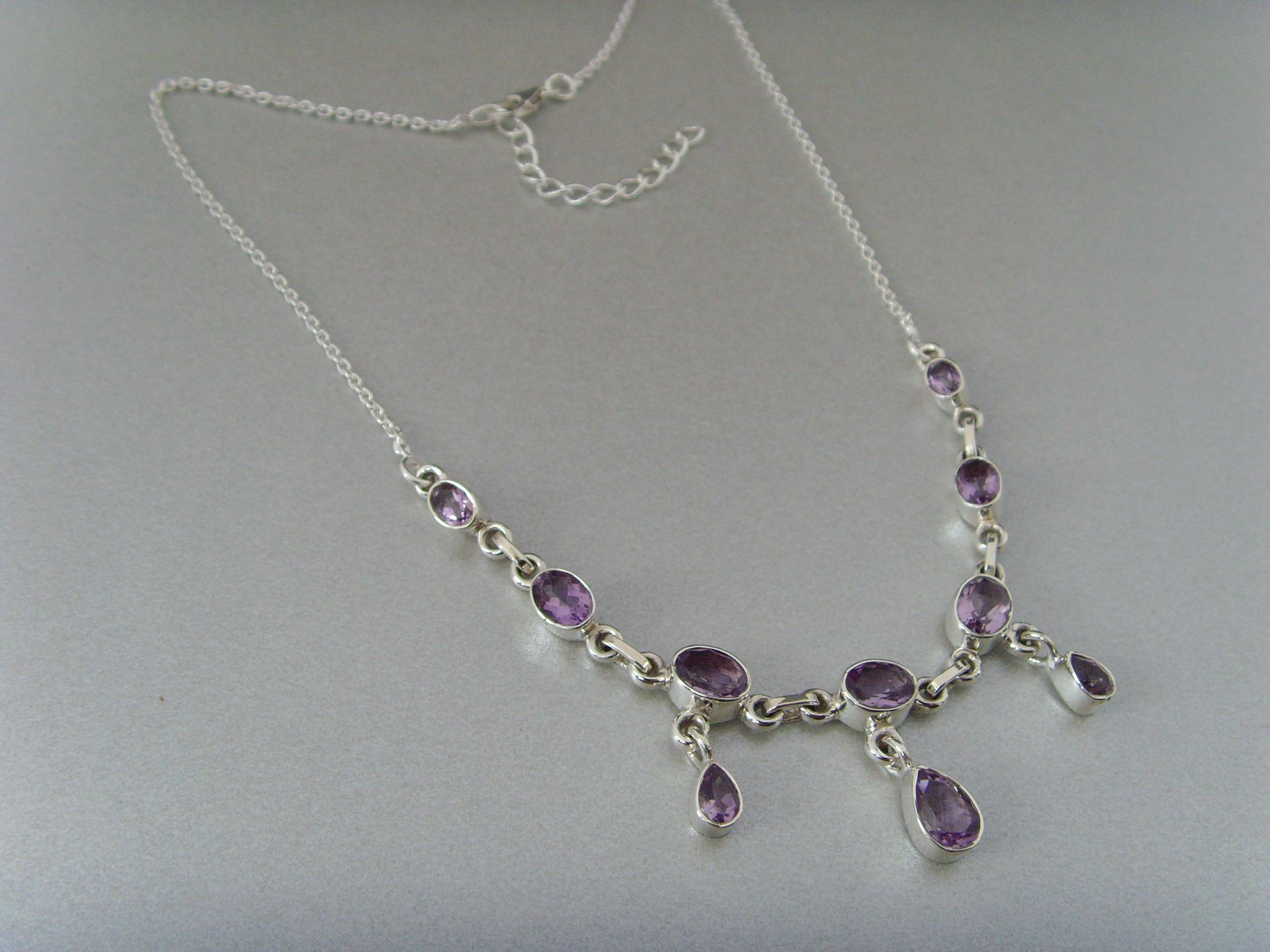 Amethyst - Collier / 925 Silber