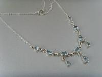 Blautopas - Collier / Silber 925