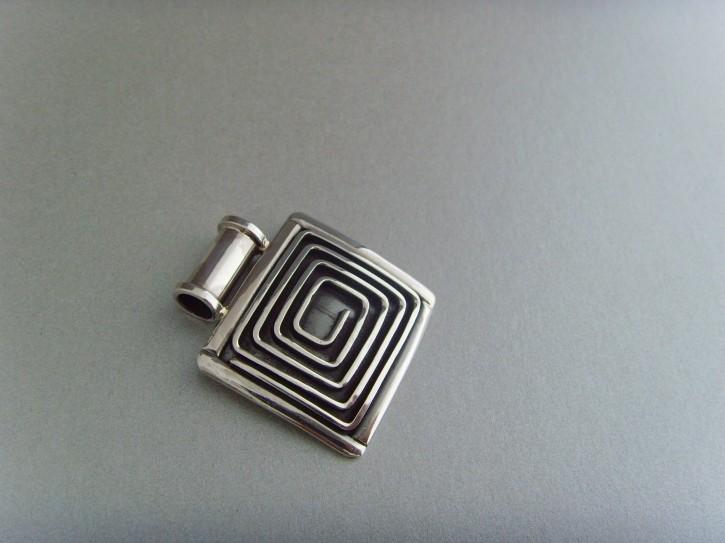 Spiralanhänger viereckig -  925'er Silber
