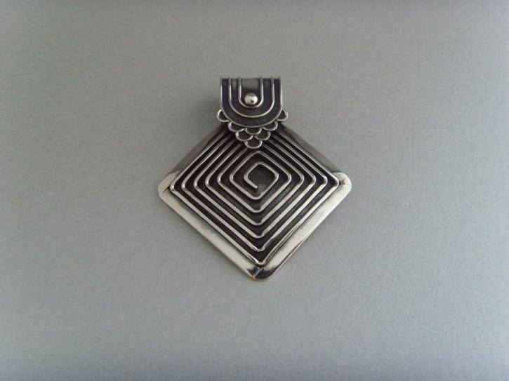 Spiralanhänger Raute - 925'er Silber