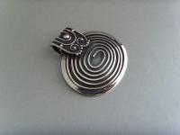 Spiralanhänger oval - 925'er Silber