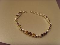 Multicolor-Armband / 925'er Silber
