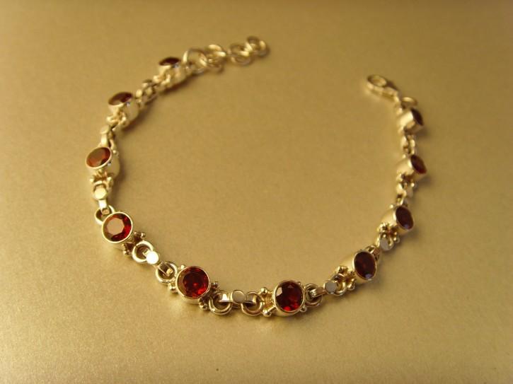 Granat-Armband - 925'er Silber