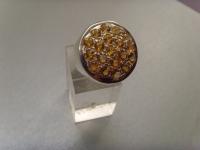 Citrin-Ring / 925'er Silber