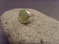 Peridot-Ring / 925'er Silber