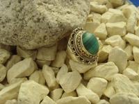 Malachit-Ring / 925'er Silber