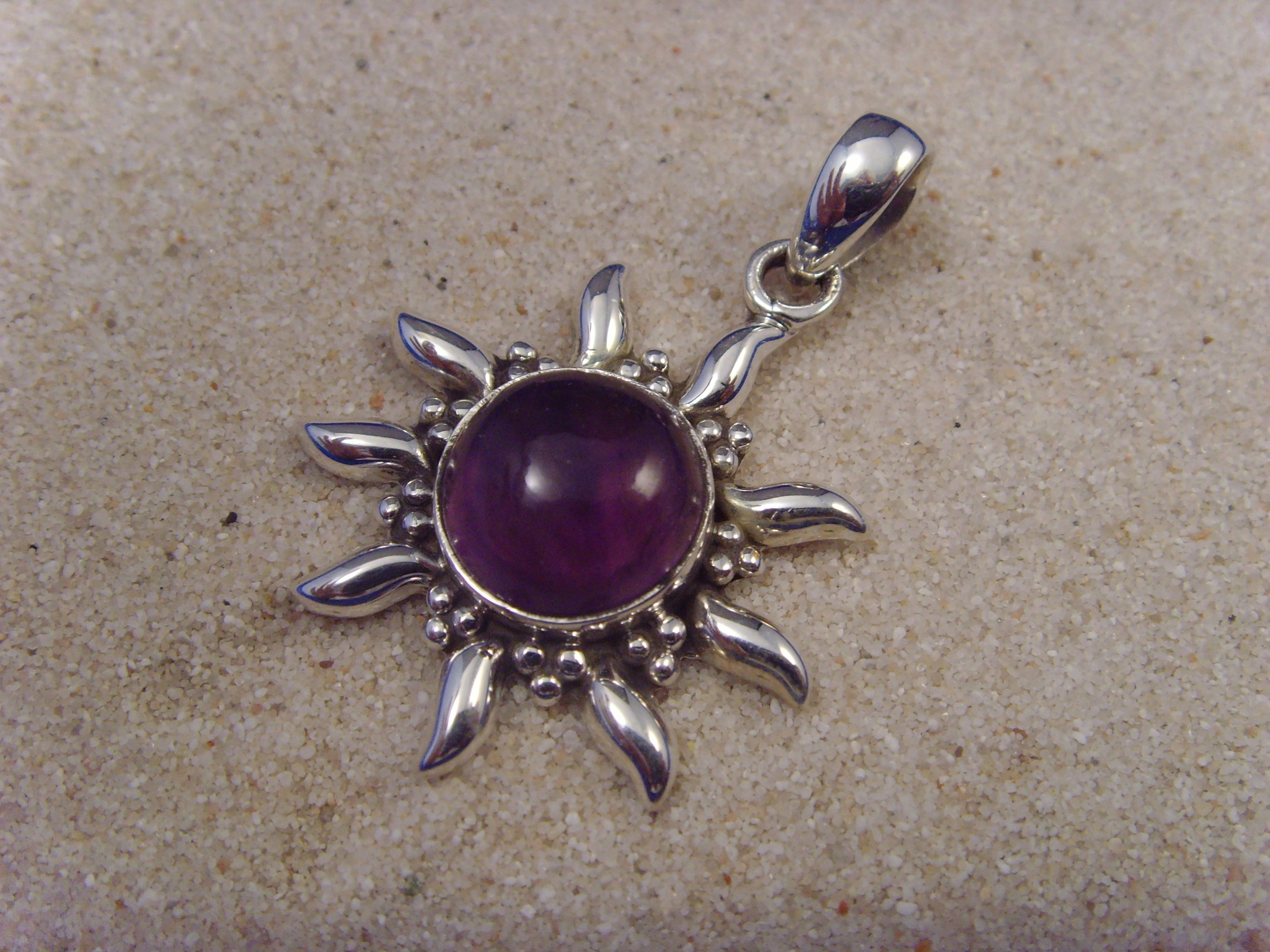 Inka-Sonne-Amethyst / 925'er Silber
