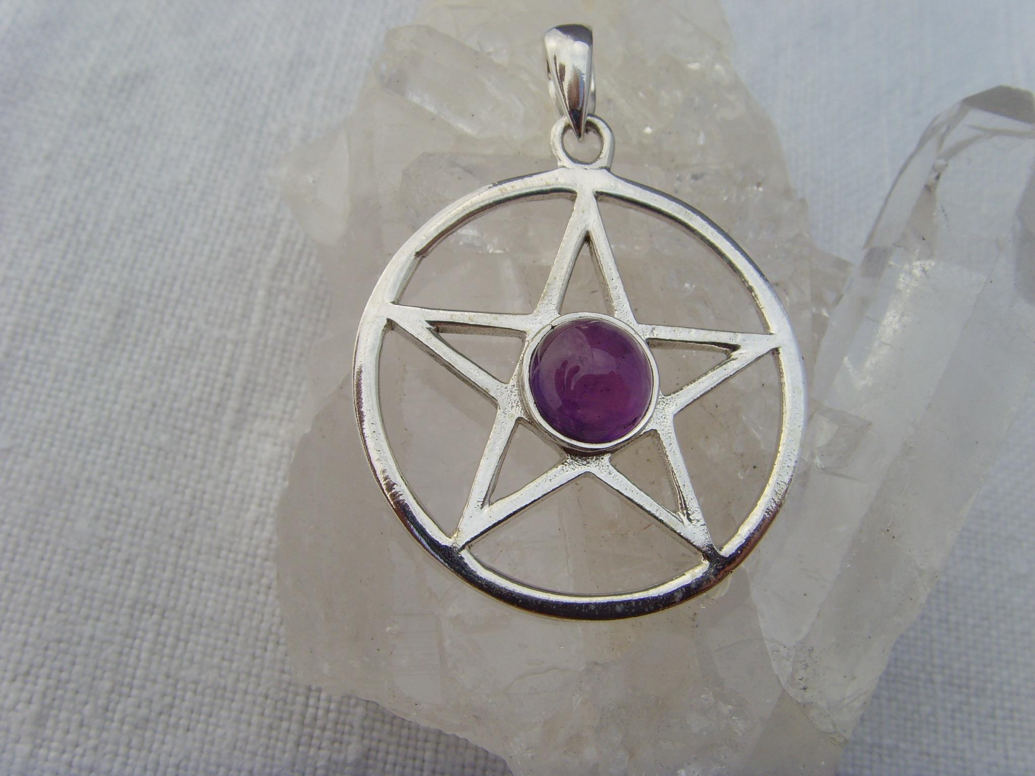 Pentagramm - Amethyst / 925'er Silber