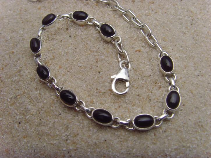 Armband - schwarzer Onyx - 925'er Silber
