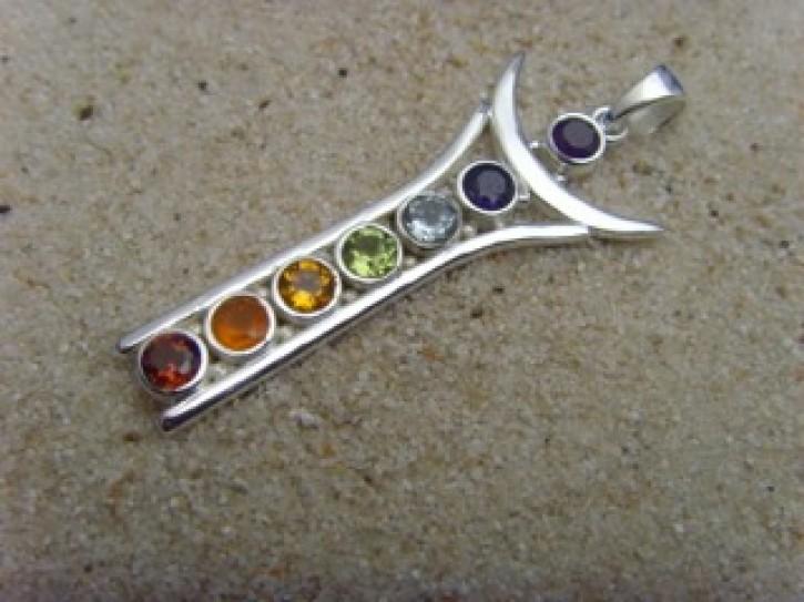 Chakra-Anhänger / 925'er Silber