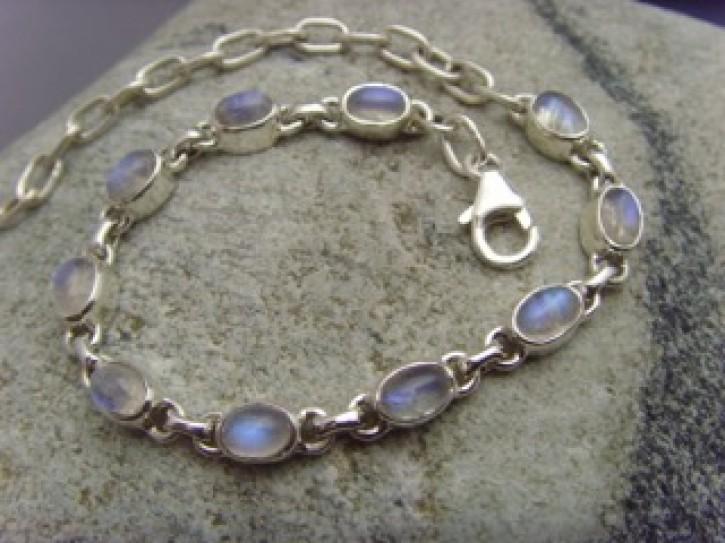 Armband - weißer Labradorit - 925'er Silber