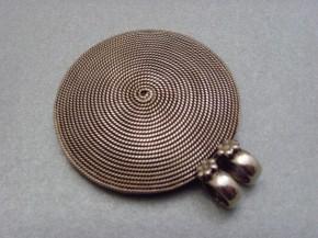 Spiralanhänger rund - 925'er Silber
