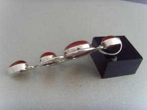 Karneol-Anhänger (Jugendstil-Design) / 925'er Silber