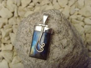 Labradoritanhänger - 925'er Silber